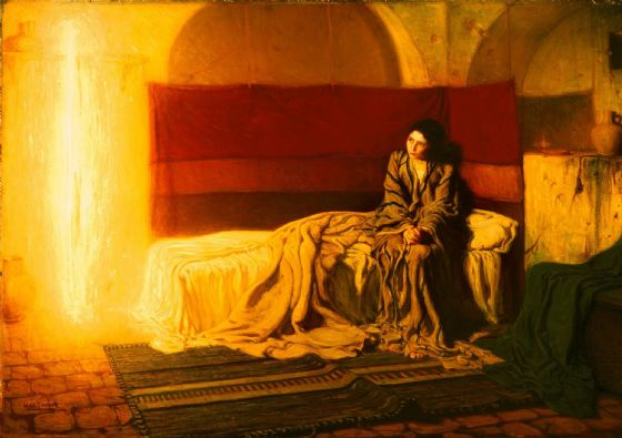 Tanner, Henry Ossawa: The Annunciation. Fine Art Print/Poster. Sizes: A4/A3/A2/A1 (004738)